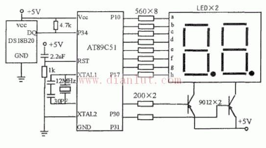 测温系统基于DS18B20与AT89C51的设计