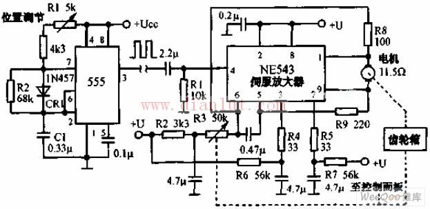 伺服机构遥控电路原理图