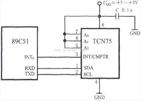 基于TCN75与89C51单片机设计的接口电路