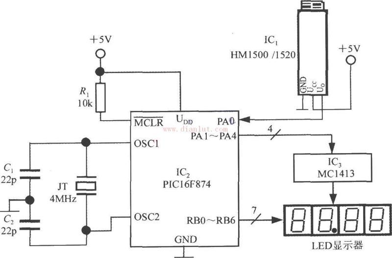 基于pic16f874设计的电压输出式集成湿度传感器电路