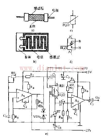 湿度传感器电路图】  简要对比直读式和电容型湿度传感器电路图 640x3