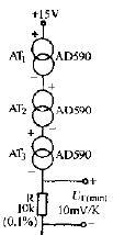 集成温度传感器的串联电路原理图