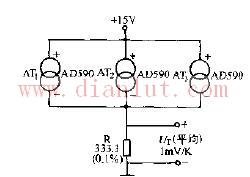 AD590温度传感器电路