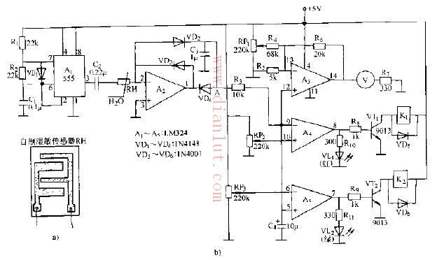 湿度传感器电路