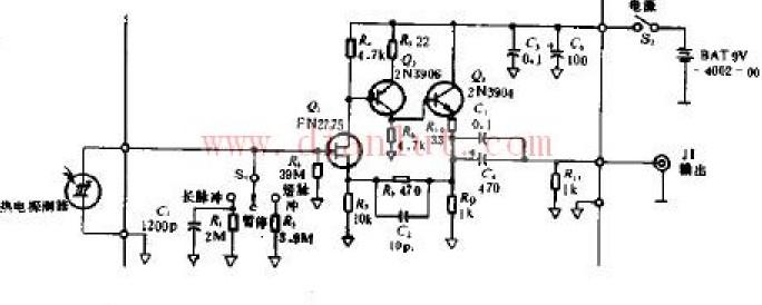 基于色素激光器功率检测的焦耳检测电路原理图