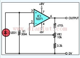 LED灯基于TL071的设计