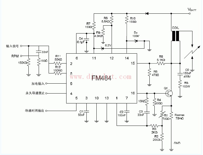 基于FM484磁感��型汽��c火�路�D