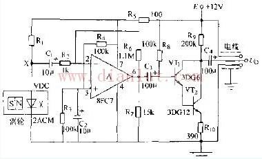 磁敏二极管电信号变送器电路