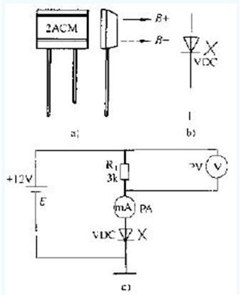 磁敏二极管参数测量的电路