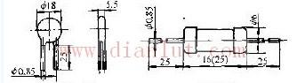 压敏电阻器外形尺寸电路