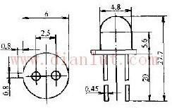 2CYU型光控晶闸管外型尺寸电路图