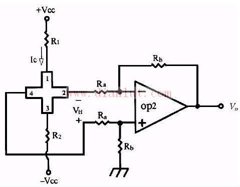 霍尔元件的供电定电压驱动电路