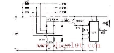 断路告警器电路原理图
