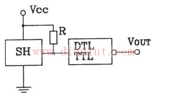 常见的霍尔传感器与DTL、TTL连接输出接口电路原理图