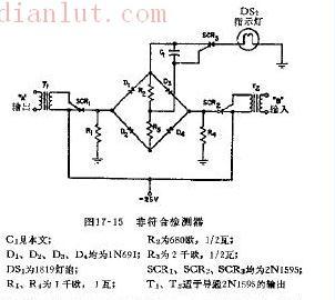 非符合检测器电路示意图