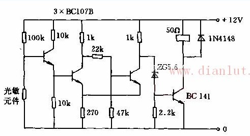 采用晶体管电路的光栅电路设计