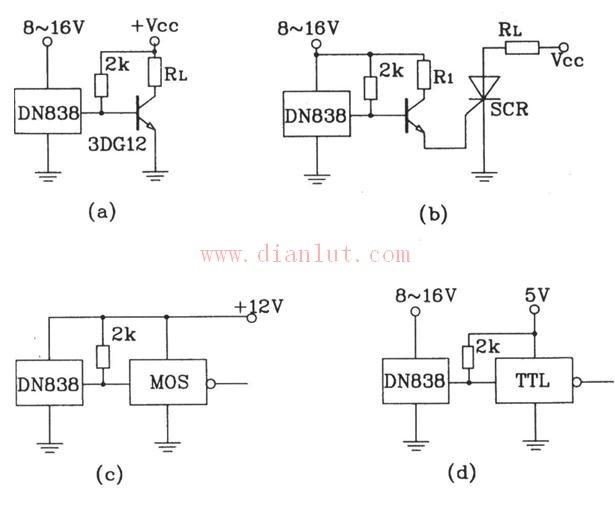 介绍基于DN838传感器实现的各种应用电路