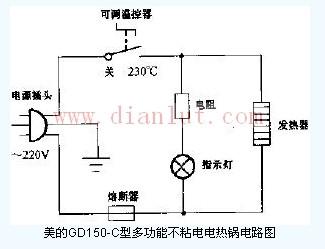 多功能电热锅电路