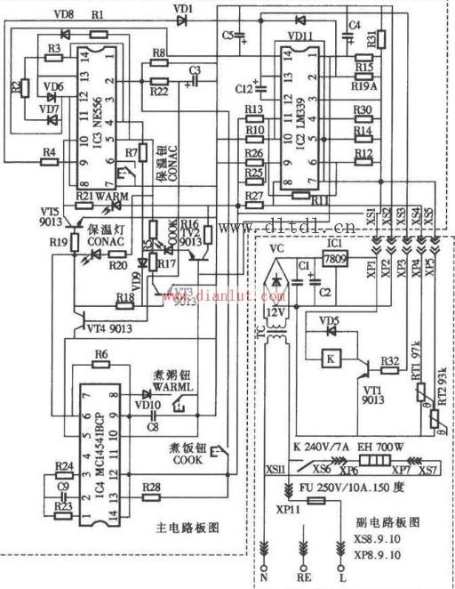 【图】容声cfxb50-90da电饭锅电路设计其它电路图