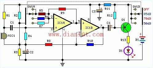 室内噪声检测电路设计