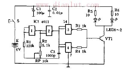 新型简易红外线发射电路