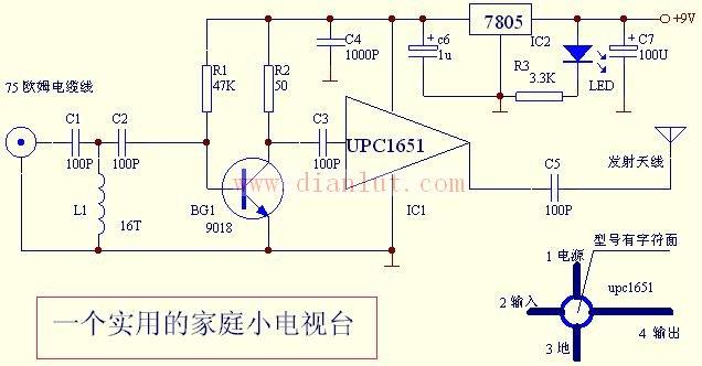 电路如图下图所示:这个电路的工作原理是射频信号