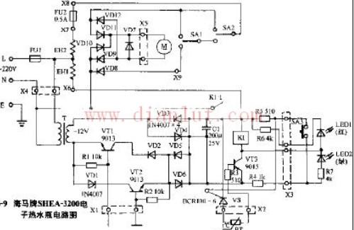 海马牌SHEA-3200电子热水瓶电路原理