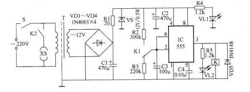 【图】食品搅拌机定时保护器电路原理图其它电路图