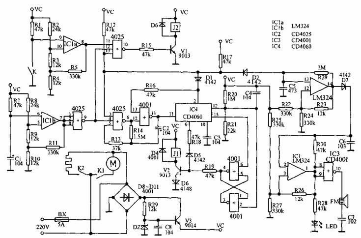 全自动豆浆机电路