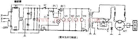 飞跃WL-5002机械式微波炉电路原理图