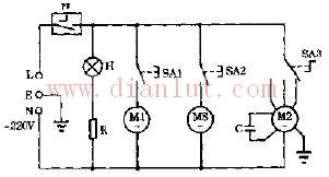 新萍牌XP-821 XP823空调扇电路及说明