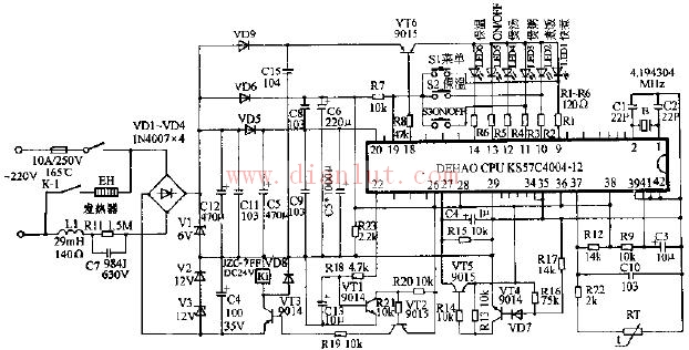 【图】sh-2电脑式电饭锅电路原理图其它电路图