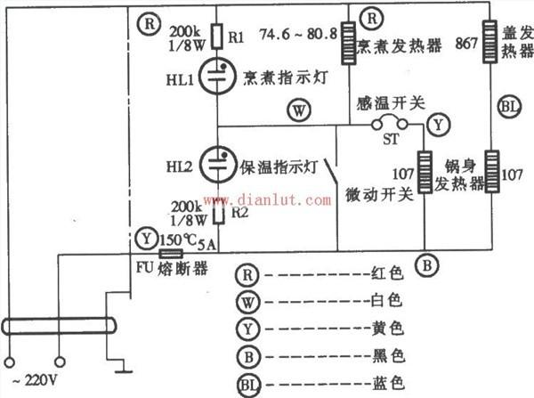 电子保温电饭锅电路