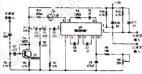 立体声电视解码器电路图