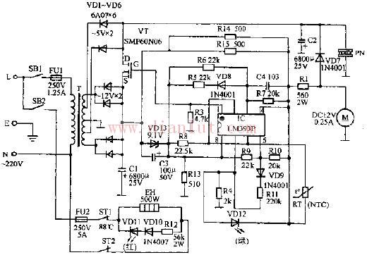 【图】简易实用型冰热饮水机电路其它电路图