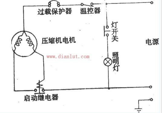 凤凰bc-152型单门电冰箱电路设计