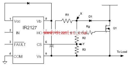 采用IR2127的欠饱和检测电路