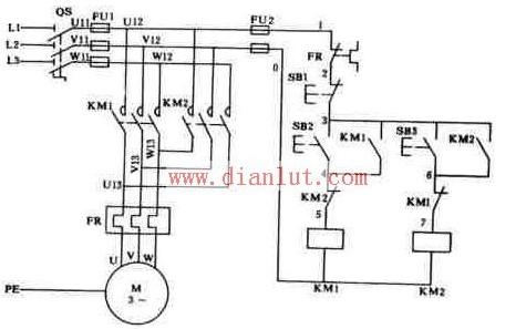 【图】接触器联锁的正反转控制电路原理图其它电路图