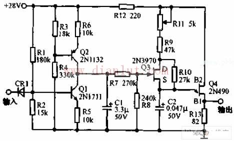 步进式伺服机构的控制电路原理图