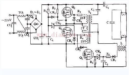 moseft管电子镇流器电路图