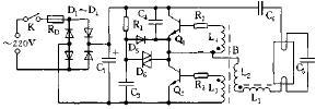 15W电子节能灯电路原理图