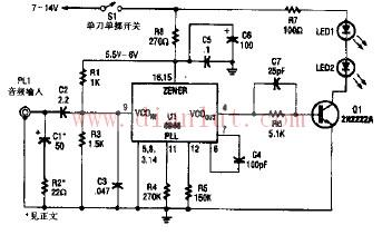 无线红外耳机发射机电路