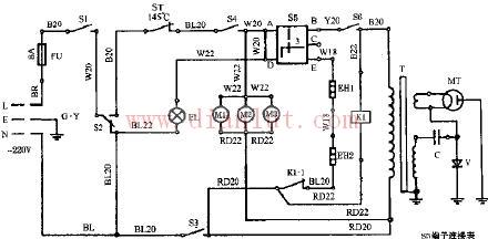 介绍蚬华机械式烧烤型微波炉电路及注意事项