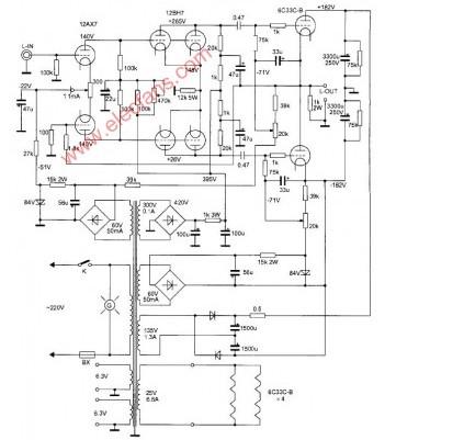 多功能OTL电子管功率放大器