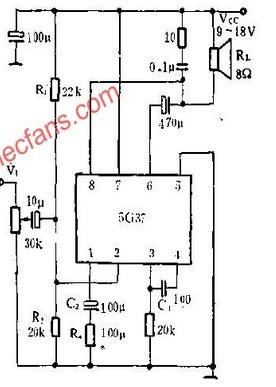 辅助对称ITL输出的5G37音频功率放大电路