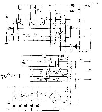 石混合功放的制作原理其它电路图