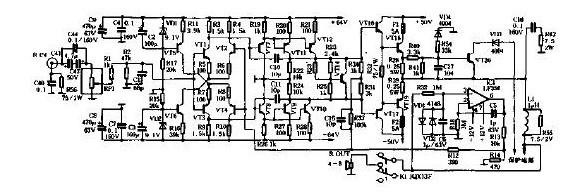 2*150W无大环反馈高保真功放电路原理