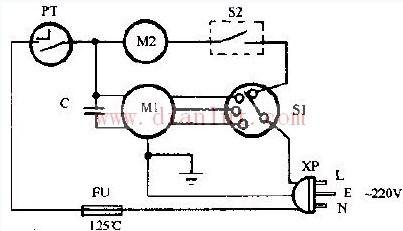 长河kyt-30 kyt-40型转页扇电路; 鸿运扇电路图 广州鸿运扇;