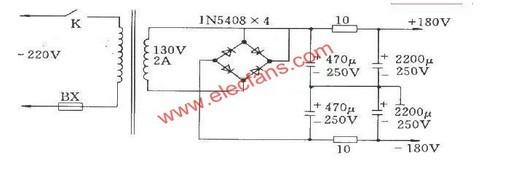 OTL电子管功放电源的特点其它电路图 电路图 捷配电子市场网图片