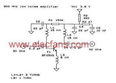900mhz低噪声放大器电路